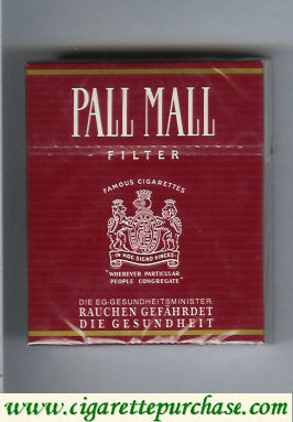 Discount Pall Mall Famous Cigarettes Filter 25s cigarettes hard box