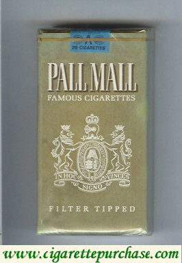 Discount Pall Mall Famous Cigarettes Filter Tipped gold 100s cigarettes soft box