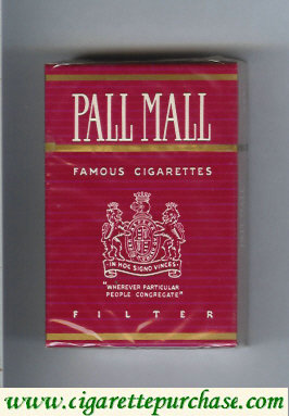 Discount Pall Mall Famous Cigarettes Filter cigarettes hard box