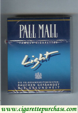 Discount Pall Mall Famous Cigarettes Light 25s cigarettes hard box