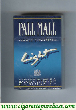 Discount Pall Mall Famous Cigarettes Light cigarettes hard box
