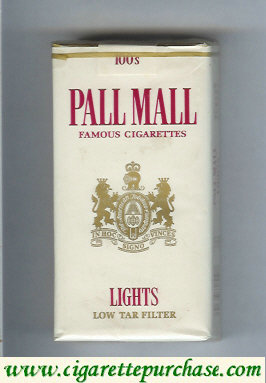 Discount Pall Mall Famous Cigarettes Lights white 100s cigarettes soft box