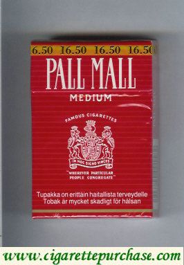 Discount Pall Mall Famous Cigarettes Medium cigarettes hard box