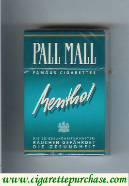 Discount Pall Mall Famous Cigarettes Menthol cigarettes hard box