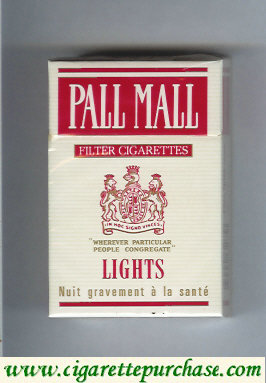 Discount Pall Mall Filter Cigarettes Lights white and red cigarettes hard box