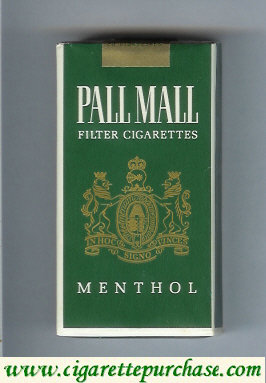 Discount Pall Mall Filter Cigarettes Menthol 100s cigarettes soft box