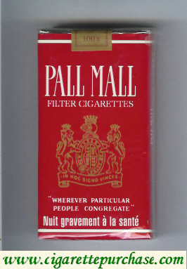 Discount Pall Mall Filter Cigarettes red 100s cigarettes soft box