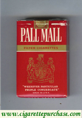 Discount Pall Mall Filter Cigarettes red and gold cigarettes soft box