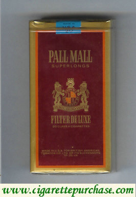 Discount Pall Mall Filter De Luxe 100s cigarettes soft box