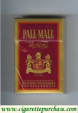 Discount Pall Mall Filter De Luxe cigarettes hard box