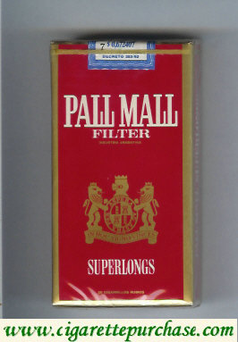 Discount Pall Mall Filter Superlongs red 100s cigarettes soft box