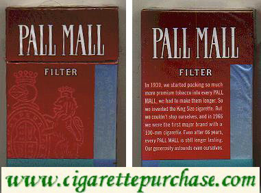 Discount Pall Mall Filter cigaettes hard box