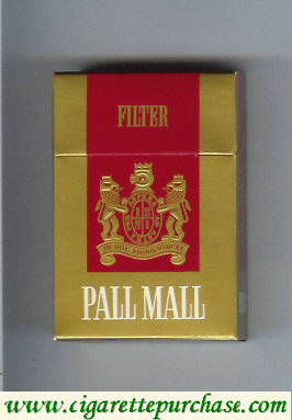 Discount Pall Mall Filter gold and red cigarettes hard box