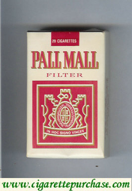 Discount Pall Mall Filter white and red cigarettes soft box