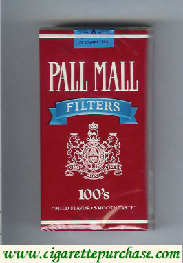 Discount Pall Mall Filters red and blue 100s cigarettes soft box