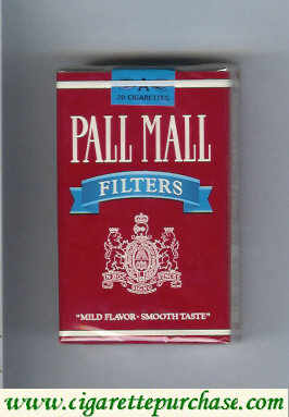 Discount Pall Mall Filters red and blue cigarettes soft box