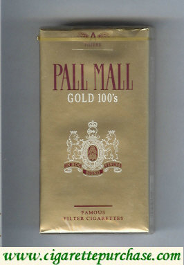 Discount Pall Mall Gold 100s cigarettes soft box