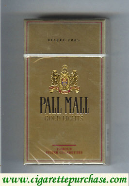 Discount Pall Mall Gold Lights 100s cigarettes hard box