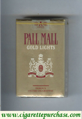 Discount Pall Mall Gold Lights cigarettes soft box