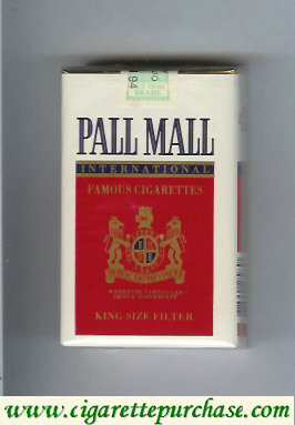 Discount Pall Mall International Famous Cigarettes soft box