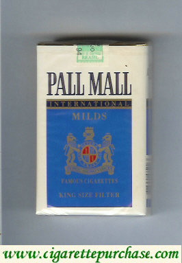 Discount Pall Mall International Milds Famous Cigarettes soft box