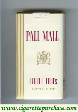 Discount Pall Mall Light 100s Filter cigarettes soft box