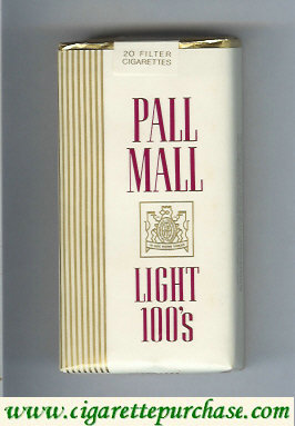 Discount Pall Mall Light 100s cigarettes soft box