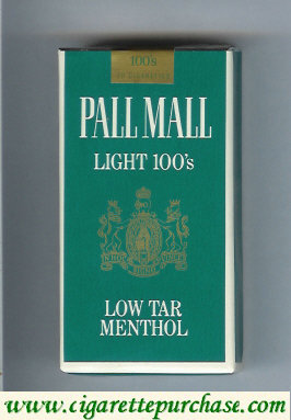 Discount Pall Mall Light Menthol 100s cigarettes soft box