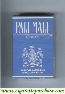 Discount Pall Mall Lights blue cigarettes hard box