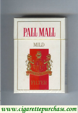 Discount Pall Mall Mild Filter cigarettes hard box