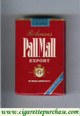 Discount Pall Mall Rothmans Export Export Plain cigarettes soft box