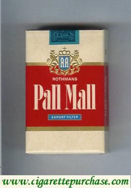 Discount Pall Mall Rothmans Export Filter cigarettes soft box
