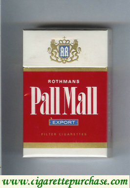 Pall Mall Rothmans Export red and white cigarettes hard box