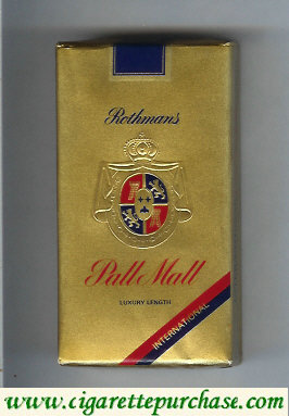 Pall Mall Rothmans International Luxury Length 100s cigarettes soft box