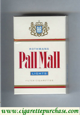 Discount Pall Mall Rothmans Lights cigarettes hard box