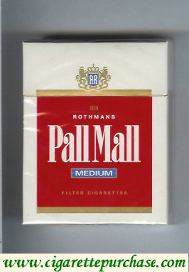Discount Pall Mall Rothmans Medium 25s cigarettes hard box