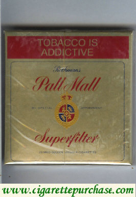 Discount Pall Mall Rothmans Superfilter gold cigarettes wide flat hard box
