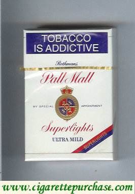 Discount Pall Mall Rothmans Superlights Ultra Mild cigarettes hard box
