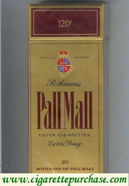 Pall Mall Rothmans gold 120s cigarettes hard box
