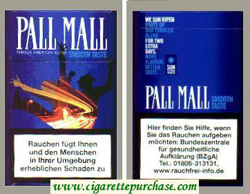 Discount Pall Mall Smooth Taste amous American Blend Lights cigarettes hard box