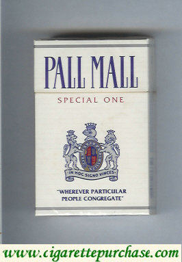 Discount Pall Mall Special One cigarettes hard box