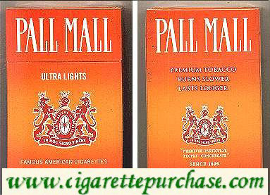 Discount Pall Mall Ultra Lights cigarettes hard box