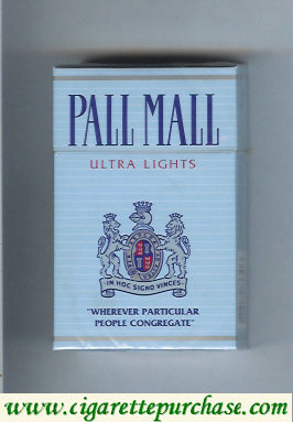 Discount Pall Mall Ultra Lights hard box cigarettes