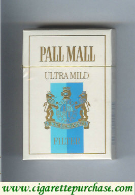 Discount Pall Mall Ultra Mild Filter cigarettes hard box