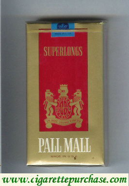 Discount Pall Mall gold and red SuperLong 100s cigarettes soft box