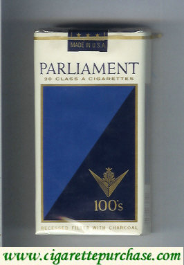 Discount Parliament 20 Class a cigarettes 100s cigarettes soft box