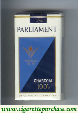 Discount Parliament Charcoal 100s cigarettes soft box