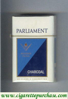 Discount Parliament Charcoal cigarettes hard box