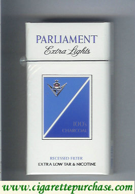 Discount Parliament Extra Lights Charcoal 100s cigarettes hard box
