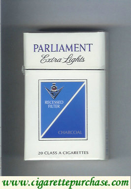 Discount Parliament Extra Lights Charcoal cigarettes hard box